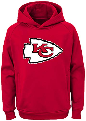 Outerstuff NFL Youth Team Color Performance Primary Logo Pullover Sweatshirt Hoodie (Medium 10/12, Kansas City Chiefs) ()