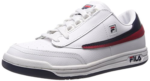 Fila Men's Original Tennis Fashion Sneaker, White Navy Red, 11 M US