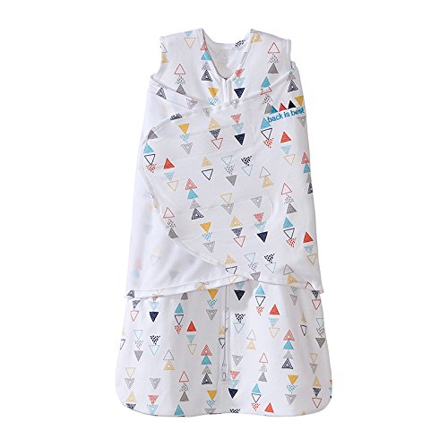 (Halo SleepSack Swaddle, 100% Cotton, Triangle Neutral, Multi, Small)