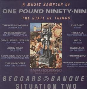 A MUSIC SAMPLER OF THE STATE OF THINGS LP (VINYL) UK BEGGARS BANQUET 1985