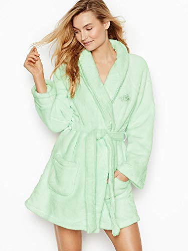 Victoria Secret. Cozy Short Plush Robe 2018 (Misty Jade Mint, XS/S)