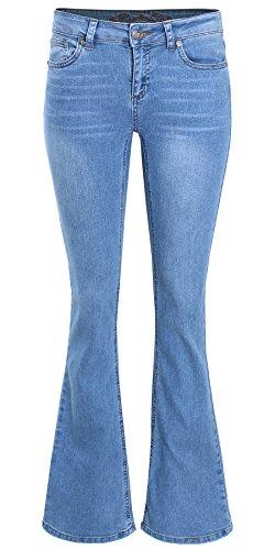 (Ladies' Code Mid Rise Bootcut Denim Jeans Light 7 Size )