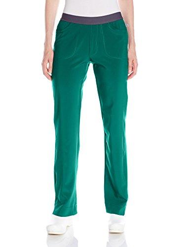 (Cherokee Women's Infinity Low Rise Slim Pull-on Pant, Hunter Green,)
