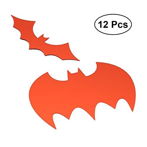 12PCS Removable Wall Sticker Cartoon Halloween Bat Pattern Sticker Wallpaper DIY Decor for Kids Art Mural Baby Room -
