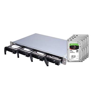 QNAP 4 Bay Rackmount NAS with 4TB Seagate IronWolf Drives Preconfigured RAID 5 Bundle (TS-431Xeu-2G-44R-US) from QNAP