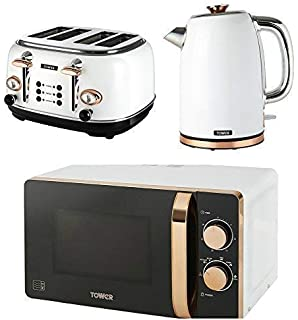 Tower Retro Stylish Kitchen Electrical Appliance Set Rose