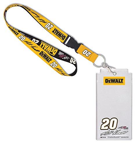 Matt Kenseth Keychain - Matt Kenseth #20 Dewalt Joe Gibbs Racing NASCAR Credential Holder With Lanyard