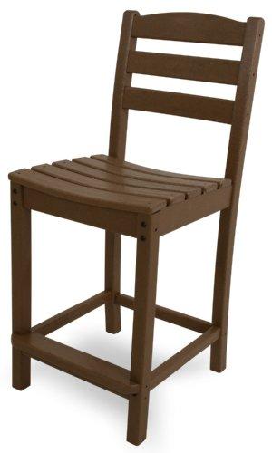 POLYWOOD TD101TE La Casa Café Counter Side Chair, Teak