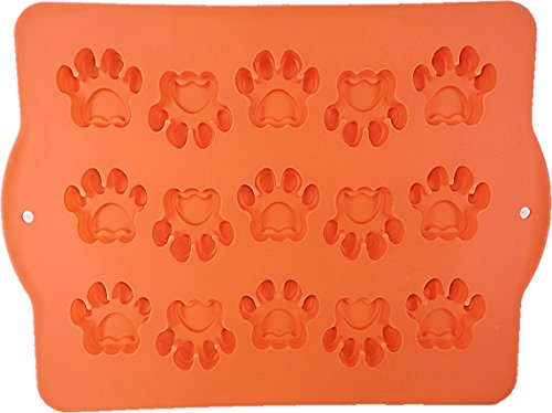 Hugs Pet Products Silicone Bake or Freeze Dog Treat Pan, Paw