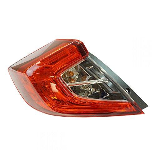 Tail Light Lamp Rear LH Driver Side for Honda Civic 4 Door Sedan Brand