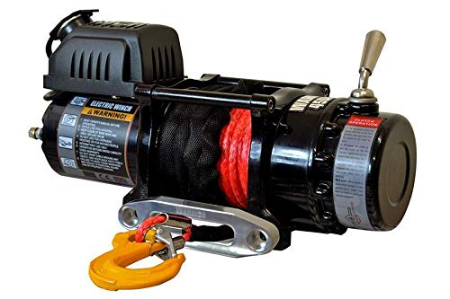 Warrior WW45SPA12 ATV//UTV Quad Elektrische Seilwinde Ninja 4500LB 2 t 12 V Kunststoffseil