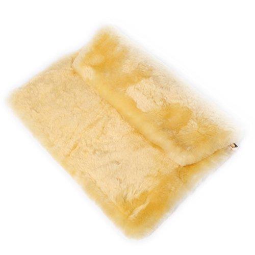 URSFUR invernale in pelliccia di lana, a forma di busta da sera, da donna, con chiusura a cartella, con borsa giallo
