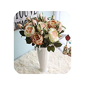 meiguiyuan 1PC 47cm French Romantic Artificial Rose Flower DIY Silk Flower for Party Home Wedding Valentine's Day Holiday Decoration 5