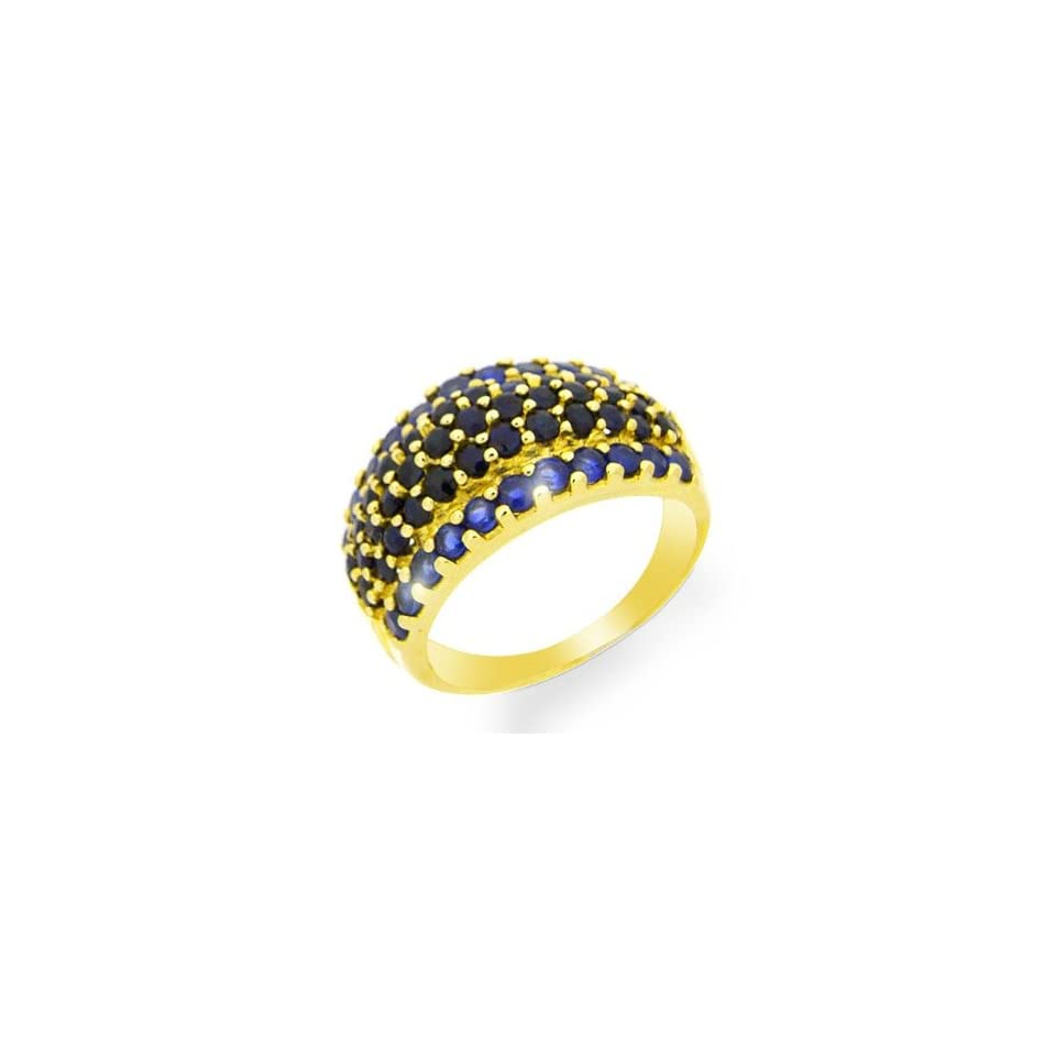 9ct Yellow Gold Sapphire Cocktail Ring Size 8 Jewelry