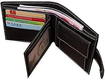 JINBAOLAI Genuine Leather Men Wallets - Black