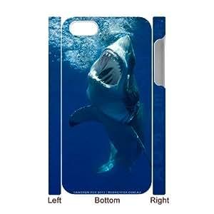 3D Shark Case For iPhone 4/4s White 6229388359010 by icecream design