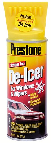 Prestone AS242-12PK Spray De-Icer with Scraper Top -11 oz., (Pack of 12) by Prestone