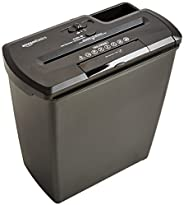 AmazonBasics 8-Sheet Strip-Cut Paper, CD Credit Card Home Office Shredder