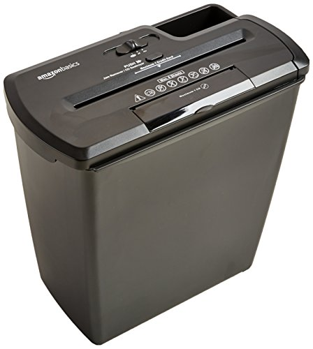 AmazonBasics 8 Sheet Strip Cut Credit Shredder