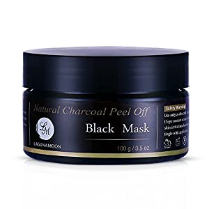 Natural Charcoal Peel off Black Mask Facial Cleaning and Moisturizing Mask with Free Black Mask Spoon 100g/3.5oz