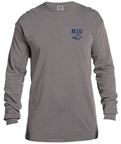 (NCAA Montana State Bobcats Vintage Poster Comfort Color Long Sleeve T-Shirt, XX-Large,Grey)