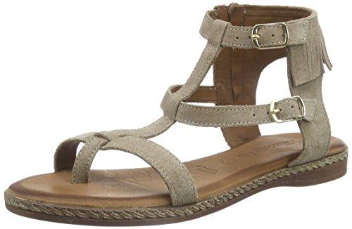 Tamaris 408 28128 linen Sandals Women's Beige bar T Suede rrCwq8