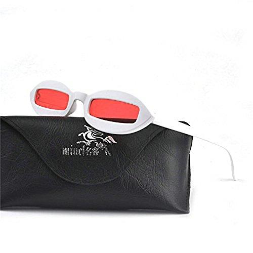 MINCL/Small Chic Oval Sunglasses Womens 2018 Hot Sale Vintage Luxury Designer Sunglasses UV400 (white - Sale Luxury Sunglasses