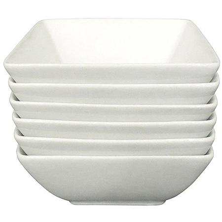 """Better Homes and Gardens 5"""" Square Appetizer Bowls, White, Set of 6"""