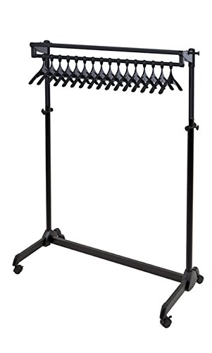 (Alba One-Sided Mobile Garment Rack with Theft Deterrent Hanging System, Black (PMRAK17AT))