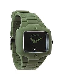 Nixon Men's Player A1391042 Green Rubber Quartz Watch
