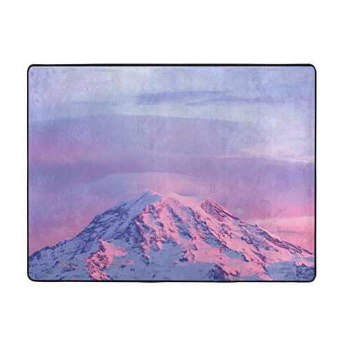 Seattle Mt. Rainier National Park Area Rug Rugs Non-Slip Floor Mat Doormats For Living Room Bedroom 63x48 Inches