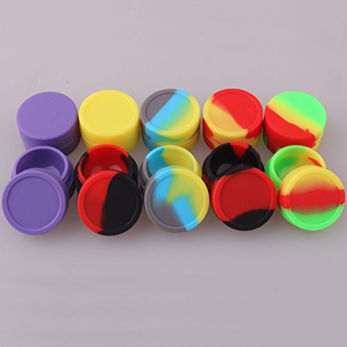 5ml Storage Silicon Container for Wax Silicon Jar Vial for Oil Wax Container Jar for Cream (Pack of 10pcs)
