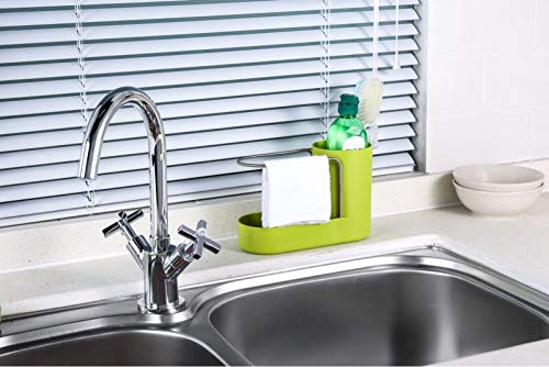 Convenient Kitchen Sink Organizer, Sink Caddy, Sinkware, Sponge Holder, Soap Dish, Brushes and Scrubbers Holder, Bathroom Caddy, Bathroom Organizer | 2 Top Quality Sponges FREE by SKA HomeStore (Image #7)