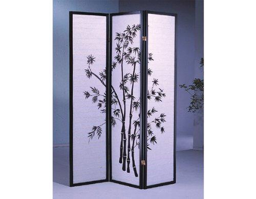 3 Panel Bamboo room divider