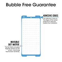 Google Pixel 2 XL Screen Protector Glass, amFilm Google Pixel 2 XL Tempered Glass Screen Protector 3D Curved with Dot Matrix for Google Pixel 2 XL 0.3mm (1-Pack) [UPDATED ADHESIVE VERSION] from TechMatte