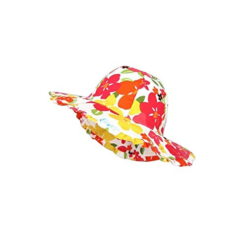LuLu Girl Wide Large Brim Coverage Multi-Colors Kids Hat for Sun - Large Bucket Brim