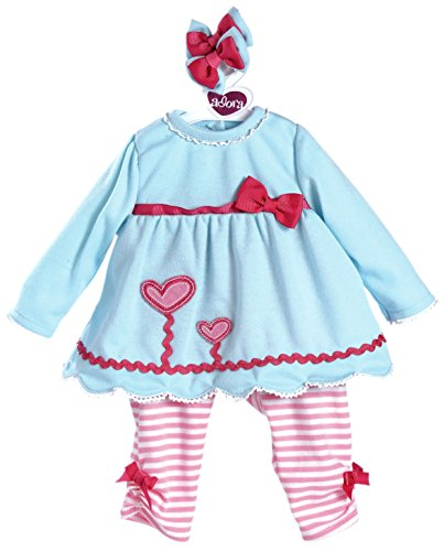 """Adora 20"""" Baby Dolls Blooming Hearts Outfit"""