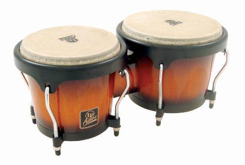 Latin Percussion Aspire Wood Bongos, Sunburst by Latin Percussion