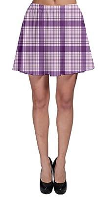 CowCow Womens Tartan Plaid Pattern Skater Skirt, XS-3XL