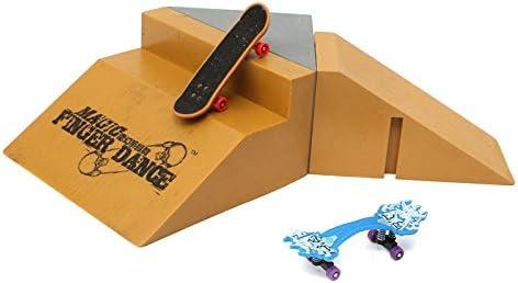 AVANI EXCHANGE Magic Finger Dance Tech Deck Tablero de Dedos Tablero de Dedos Patín Pendiente Escalera Rampa Ultimate Park J5-5: Amazon.es: Juguetes y juegos
