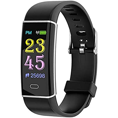 QQFTCM Smart Bracelet Fitness Tracker Blood Pressure Heart Rate Monitor Sports Pedometer Smart Band Wristbands Estimated Price £46.00 -