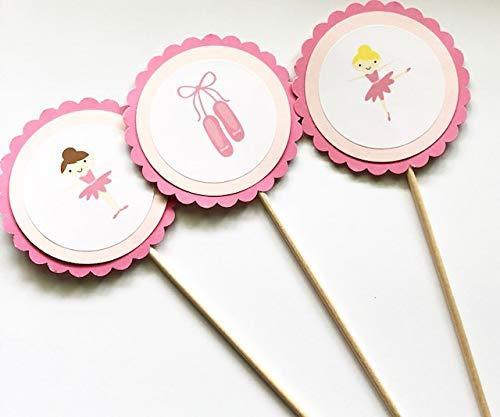 Pink Ballerina Theme Centerpieces Set of 6