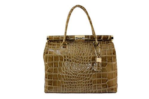 sac sac Perlina chloly verni Plusieurs sac sac verni femme Clair femme cuir Sac perlina cuir sexy verni Coloris cuir cuir Taupe main 4aw77q