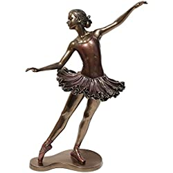 "Balances En Arriere Bronze 10 3/4"" high Ballerina Figurine"