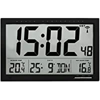 TFA 60.4510.01 Reloj Digital de Pared Negro