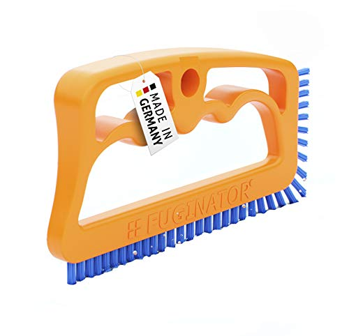 (Fuginator Scrub Brush for Tile and Grout: Stiff Nylon Bristle Scrubbing Brush - Bathtub and Shower Scrubber for Floor Joints and Tile Seams - Cleaning Brushes and Supplies for Bathroom and Kitchen)