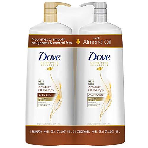 (Dove Anti-Frizz Oil Therapy Shampoo & Conditioner (40 fl. oz., 2 pk.))