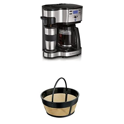 Amazoncom Hamilton Beach Single Serve Coffee Brewer And Full Pot