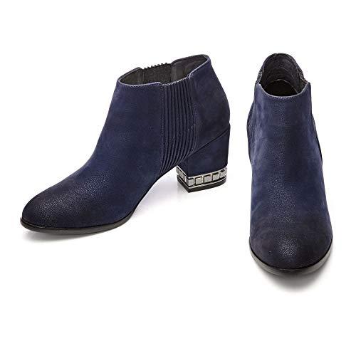 Navy Boots in Chelsea Moda Pelle Damen RnHxXH1Ow