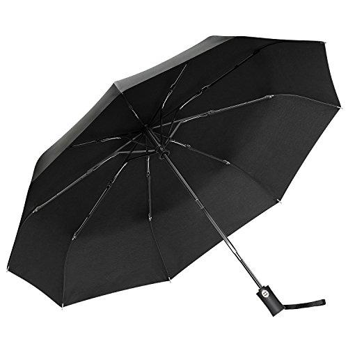 Gritin Paraguas, Paraguas Plegables y Compacto con Apertura y Cierre Automático/Mango Antideslizante y Cómodo, El Mejor Paraguas Largo para Fuertes Vientos ...